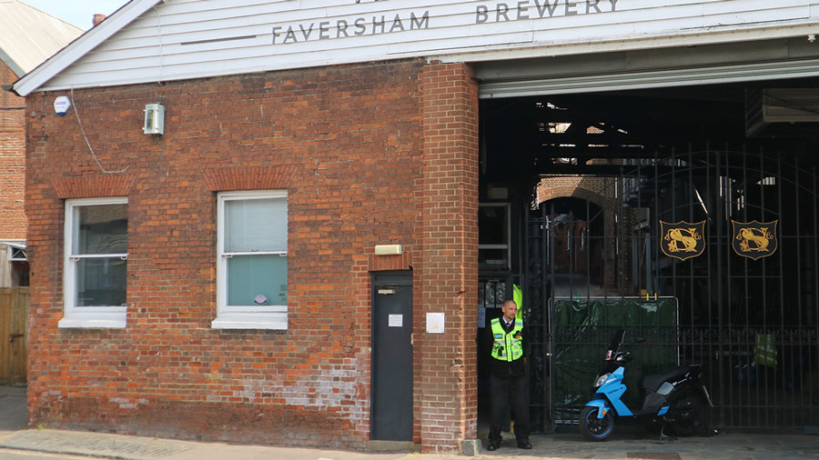 TMS Guards stood outside Faversham Brewery