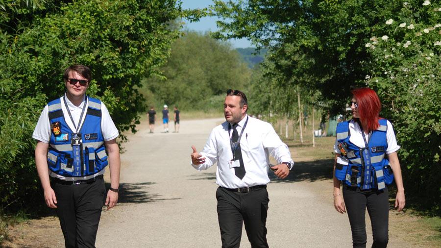 TMS Marshals Walking