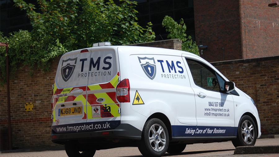 Parked TMS Van